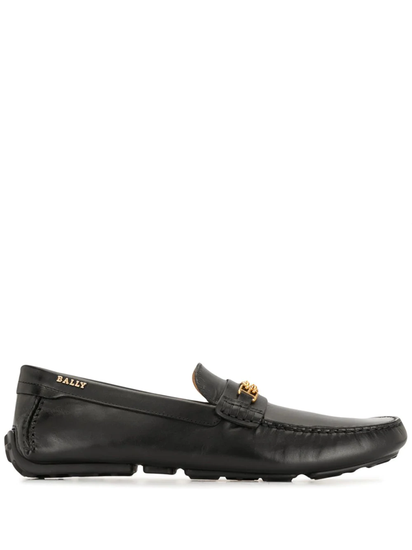 Bally Dravil Leather Loafers In Black