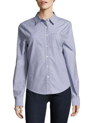 Equipment Solid Cotton Shirt In French Blue