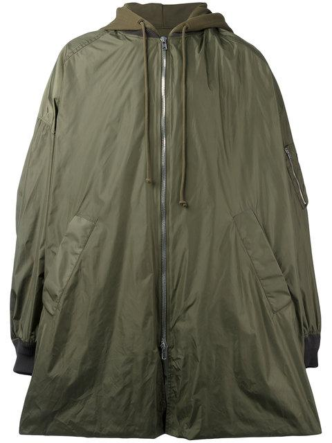 Juun.J Hooded Oversized Coat - Green