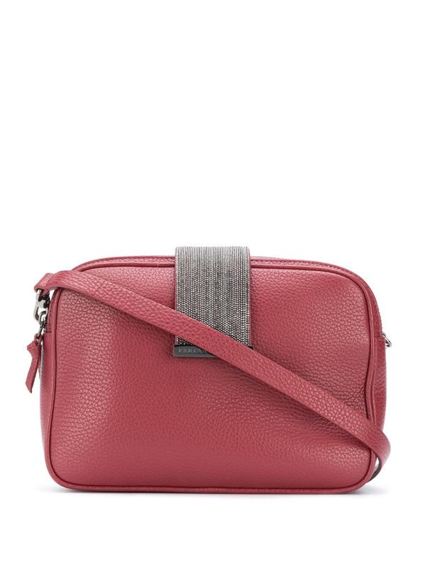 Fabiana Filippi Double-top Zip Shoulder Bag In Red