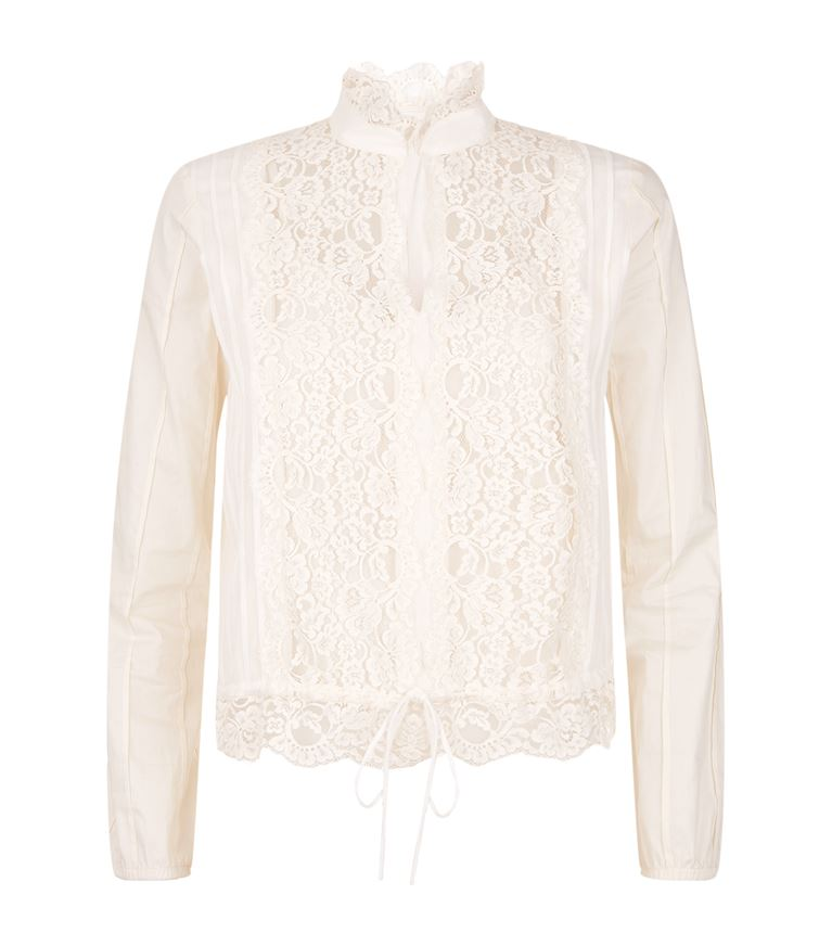 See By ChloÉ Lace-Panelled Blouse In Off White
