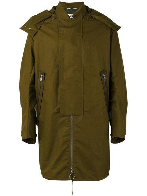 Oamc Straps Detail Hooded Coat