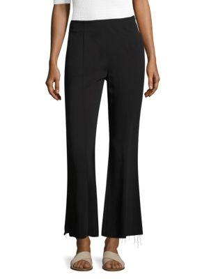Elizabeth And James Carel Fit & Flare Side-Zip Cropped Pant, Black