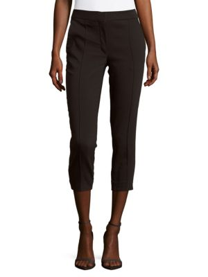 Iro Lary Cotton-Blend Cropped Pants In Black