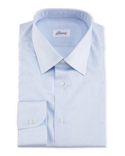 Brioni Micro-Stripe Dress Shirt In Multi
