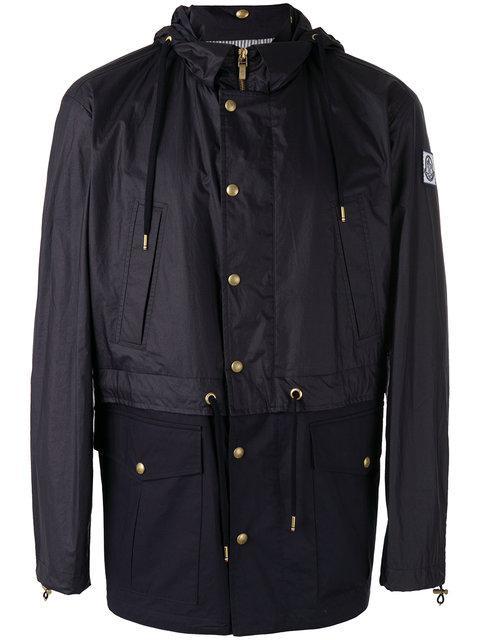 Moncler Gamme Bleu Moncler Logo Patch Hooded Jacket - Blue