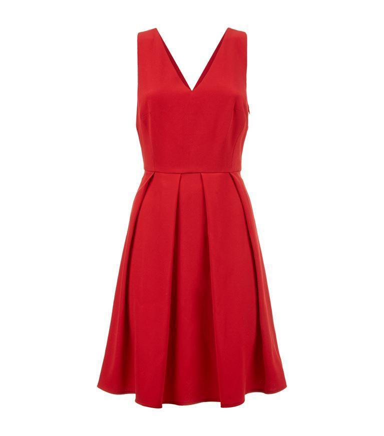 Claudie Pierlot Rire Crepe Mini Dress In Ruby