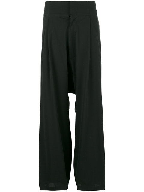 Y-3 Drop-Crotch Loose Trousers