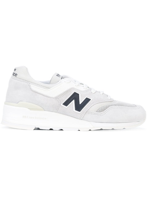 New Balance 997 Suede And Mesh Sneakers In Grey