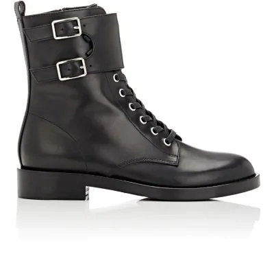 Gianvito Rossi Lagarde Leather Combat Boots In Black