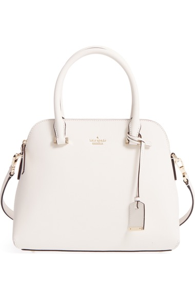 Kate Spade Cameron Street Maise Leather Satchel - Ivory In Cement