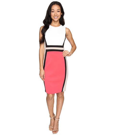 b94f0a0f40ae Calvin Klein Color Block Sheath Dress Cd6M1V5K