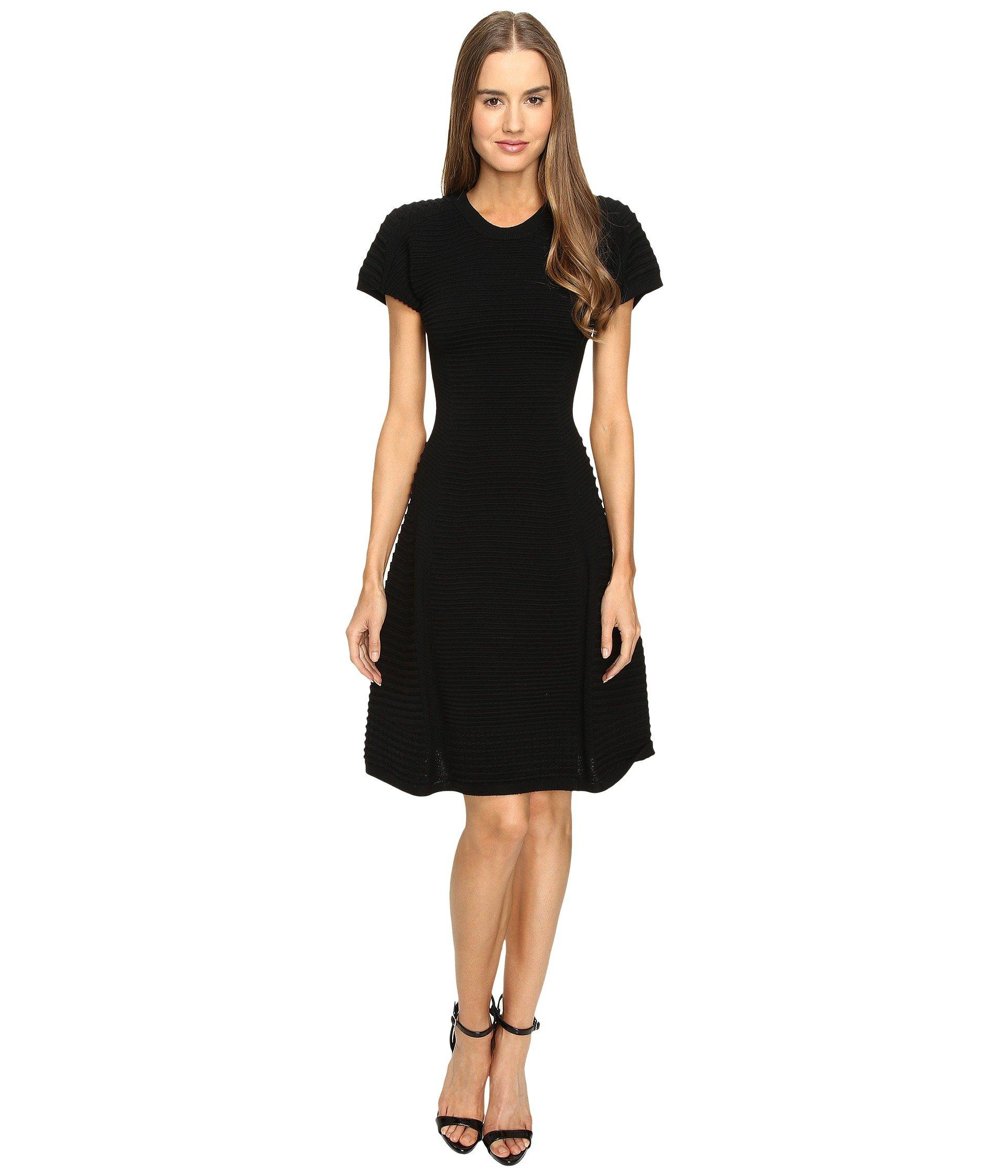 Dsquared2 Short Sleeve A Line Dress In Black