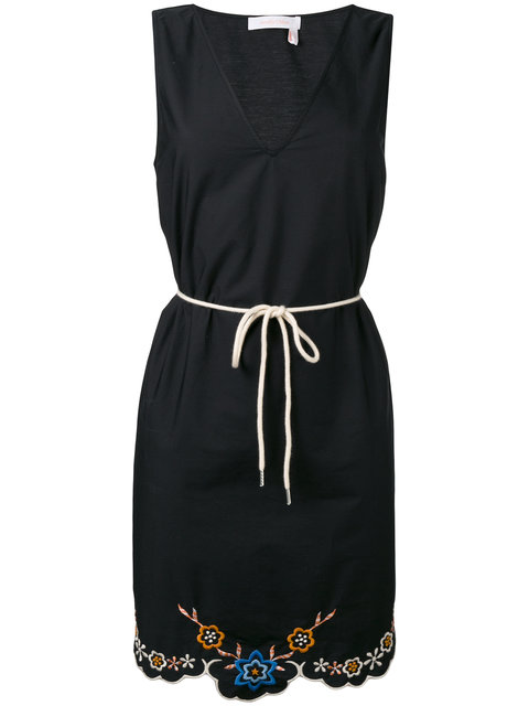 See By ChloÉ Embroidered Hem Dress