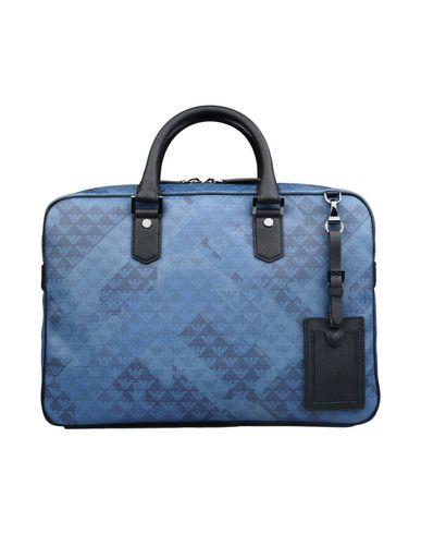 Emporio Armani Work Bag In Pastel Blue