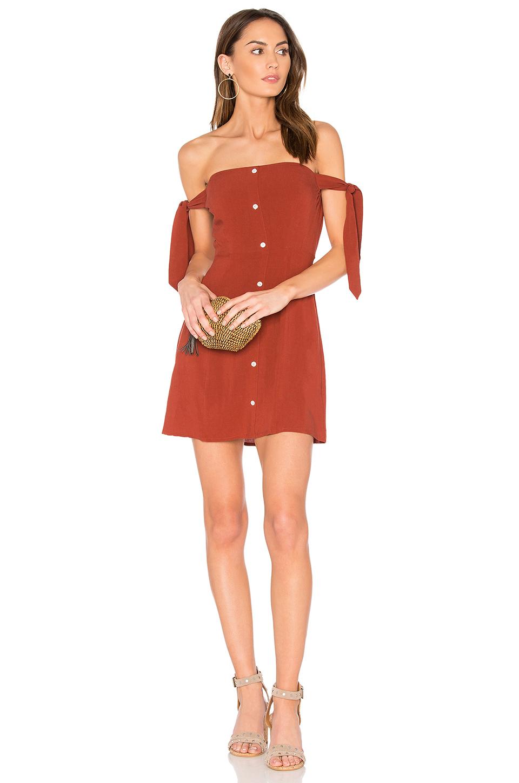 Capulet Giulia Mini Dress In Rust