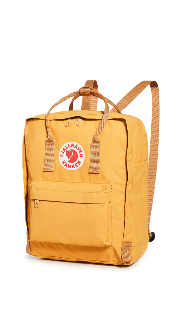 Fjall Raven Kanken Water Resistant Backpack In Ochre