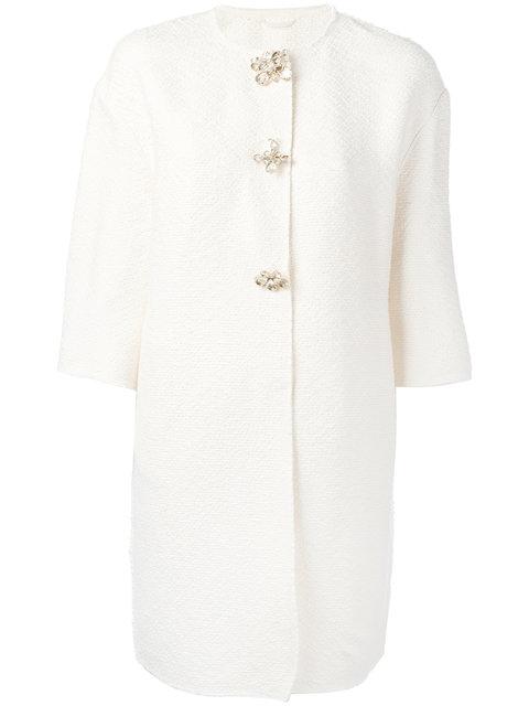 Ermanno Scervino Embellished-Button Coat