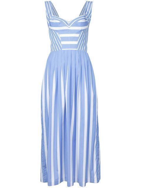 Ermanno Scervino Striped Sundress - Blue