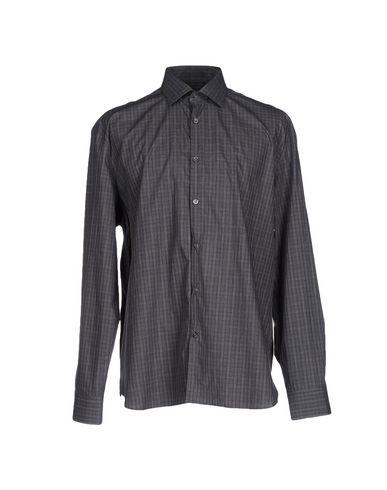 John Varvatos Checked Shirt In Steel Grey