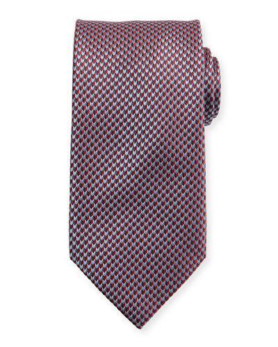 Brioni Textured Arrow Neat Tie In Red