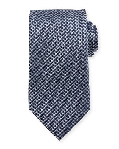 Brioni Textured Arrow Neat Tie In Blue