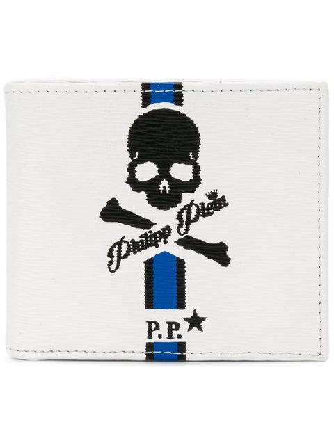 Philipp Plein Skull Fold Out Wallet - White