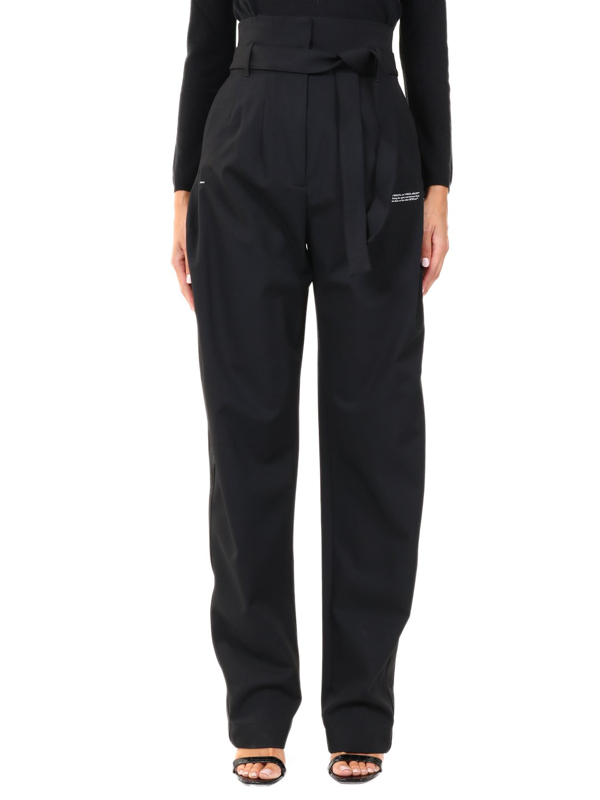 Off-white Black Trousers