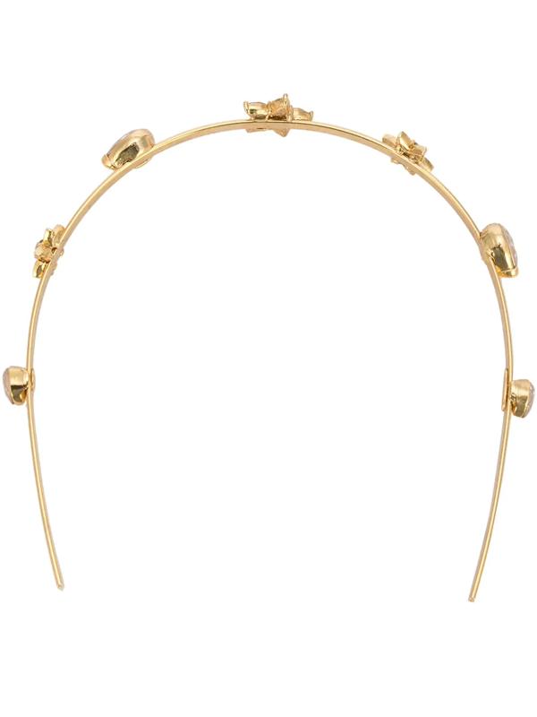 Oscar De La Renta Women's Swarovski Crystal Flower Headband In Gold