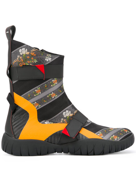 Maison Margiela Floral Ankle Boots