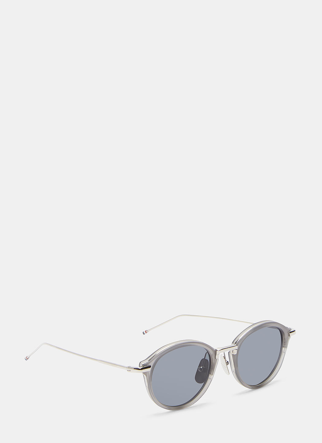 Thom Browne Men's Round Sunglasses In Grey