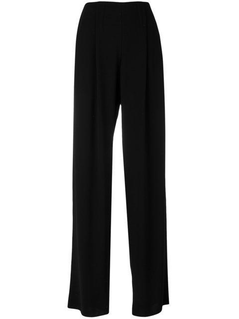 Giorgio Armani Wide Leg Trousers - Black