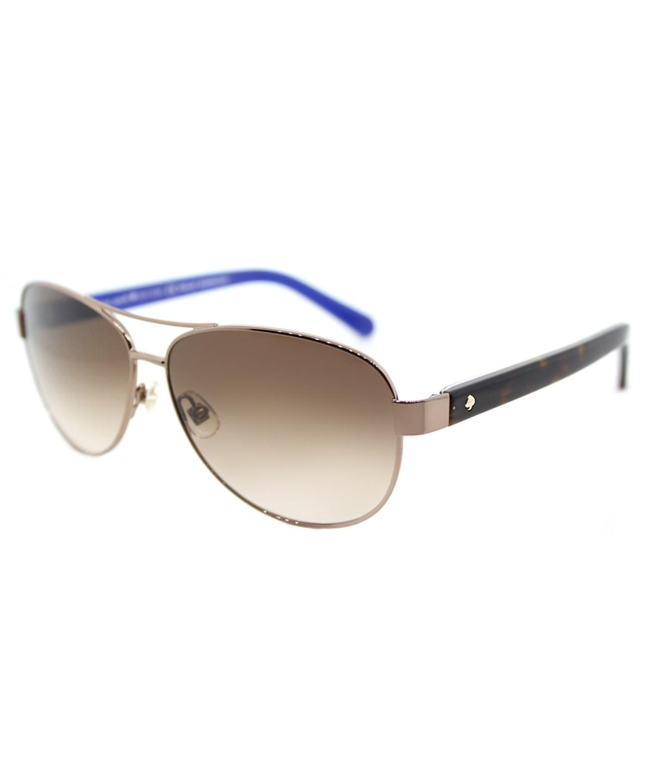 Kate Spade Women Dalia2 Aviator Metal Sunglasses In Brown