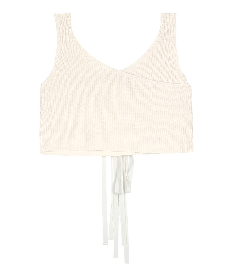 The Row Drew Cotton And Silk-Blend Top In Beige