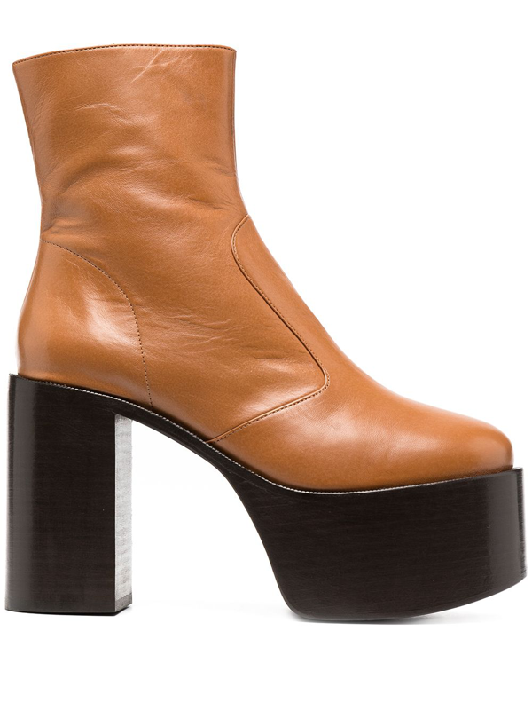 Simon Miller Women's Raid Leather Platform Ankle Boots In Brown