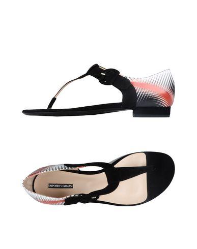 Emporio Armani Flip Flops In Black