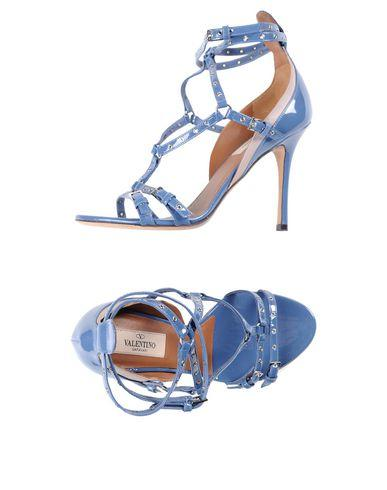 Valentino Sandals In Slate Blue