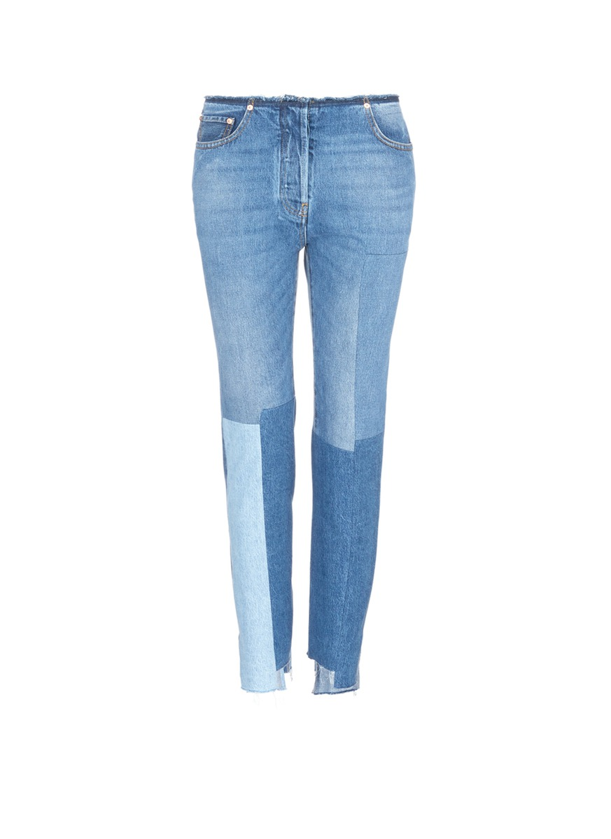 Valentino Washed Patchwork Jeans