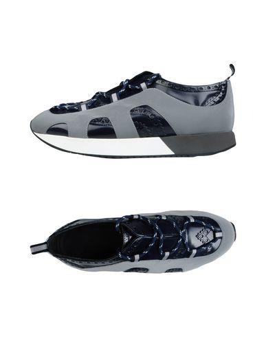 Emporio Armani Sneakers In Dark Blue