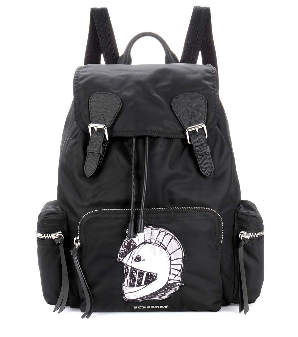 Burberry The Large Backpack With Pallas Heads AppliquÉ In Black