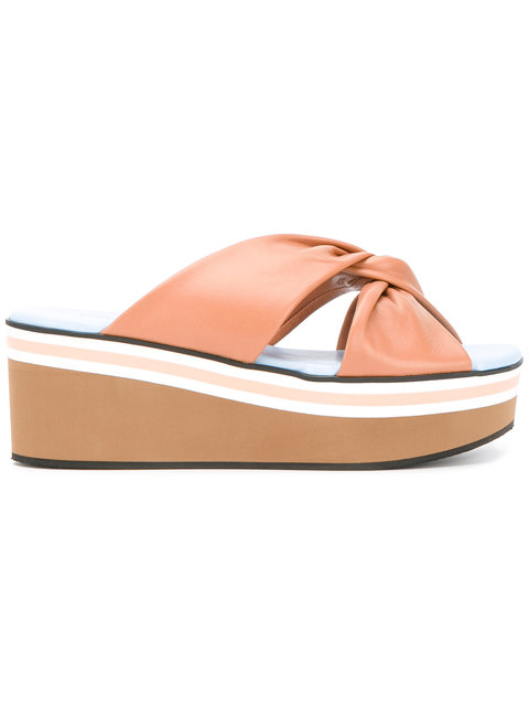 Robert Clergerie Pally Sandals In Skin Nappa