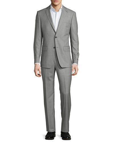 Michael Kors Slim-Fit Two-Button Wool Two-Piece Suit, Gray, Grey