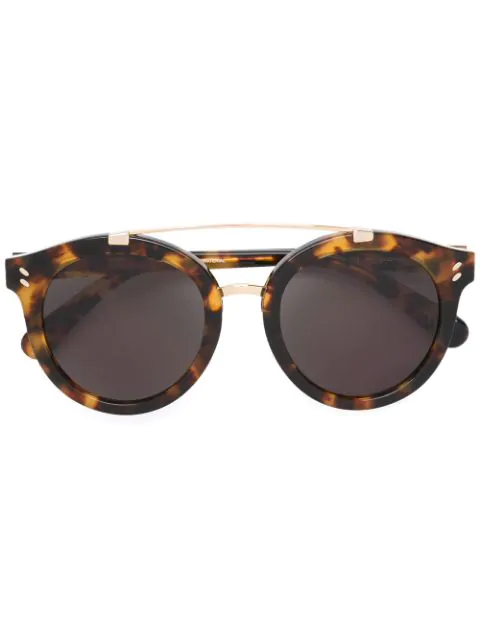 Stella Mccartney Eyewear Round Frame Sunglasses - Brown