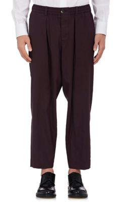 Marni Worsted Wool Relaxed Trousers In Md. Red