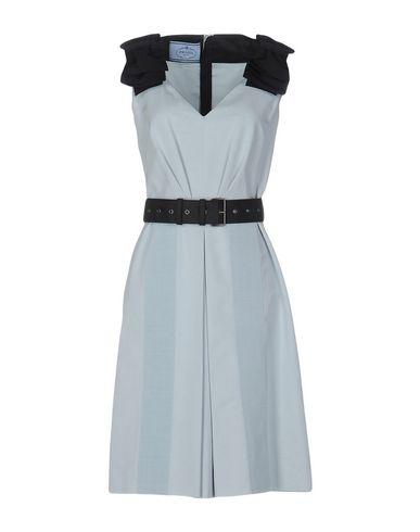 Prada Knee-Length Dresses In Sky Blue