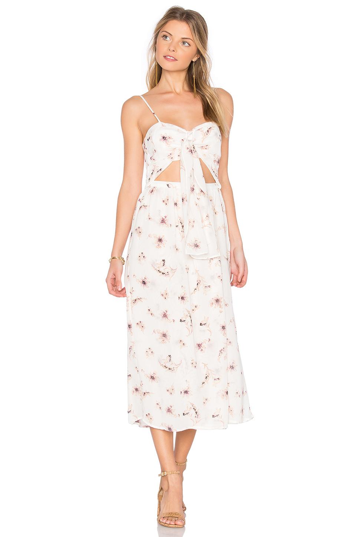 Flynn Skye Faith Midi Dress In White