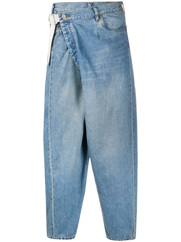 Attachment Deconstructed Tapered Jeans In Blue