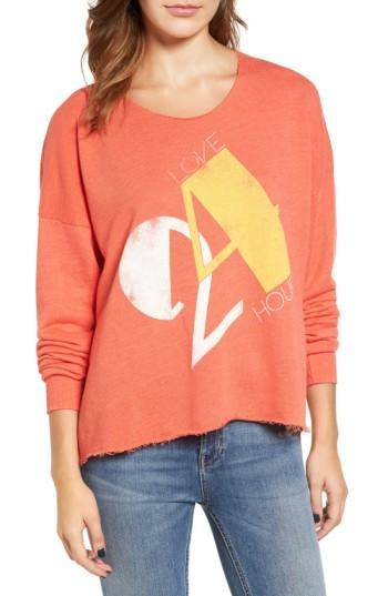 Wildfox Love 24/7 Sweatshirt In Electric Red