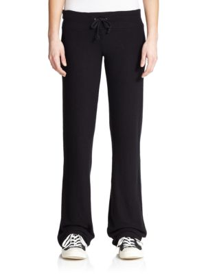 Wildfox Drawstring Flared Sweatpants In Black