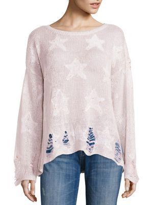 Wildfox Seeing Stars Sunset Yarn Sweater In Lilac Dawn